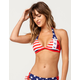 FOX Red White And True Bikini Top