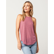 BOZZOLO Rose High Neck Womens Tank