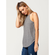 BOZZOLO Heather Grey High Neck Womens Tank
