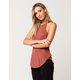 BOZZOLO Rust High Neck Womens Tank