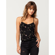 FULL TILT Embroidered Floral Womens Tank