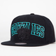 MITCHELL & NESS Blackout Arch Grizzlies Snapback Hat