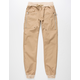 UNCLE RALPH Twill Zip Boys Jogger Pants