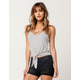FULL TILT Strappy Womens Tie Front Top