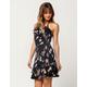 LOVE FIRE Floral Surplice Dress