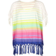 BILLABONG Stripe Fringe Girls Poncho Tee