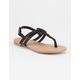SODA Braided T-Strap Girls Sandals