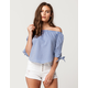 LIVE 4 TRUTH Poplin Womens Off The Shoulder Top