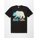 NOR CAL Map Bear Mens T-Shirt