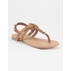 SODA Braided T-Strap Girls Sandals