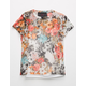 POLLY & ESTHER Floral Mesh Girls Baby Tee