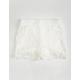 FULL TILT Lace Crochet Trim Girls Shorts