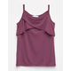IVY & MAIN Hi Neck Girls Ruffle Tank