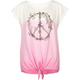BILLABONG Dip Dye Peace Sign Girls Tee