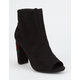WILD DIVA Embroidered Womens Heeled Booties