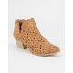 QUPID Perforated Scallop Womens Booties