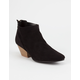 QUPID Suede Pointy Toe Womens Booties