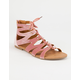 YOKI Velvet Lace Up Womens Gladiator Sandals