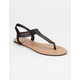 CELEBRITY NYC Bling T-Strap Womens Sandals