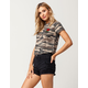 ALMOST FAMOUS High Waisted Ripped Womens Denim Shorts