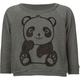 FULL TILT Panda Girls Crop Sweatshirt