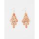 FULL TILT Rose Gold Glitter Chandelier Earrings