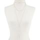 FULL TILT 3 Layer Crystal Bar Necklace