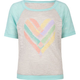 FULL TILT Heart Banded Girls Tee