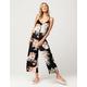 BOG Collective Floral Lattice Womens Jumpsuit