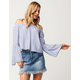 LOVE FIRE Off The Shoulder Bell Sleeve Womens Top