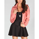 FULL TILT Womens Faux Leather Bomber Jacket