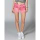 ALMOST FAMOUS Shortie Tie Dye Womens Denim Shorts