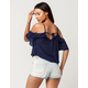 CHLOE & KATIE Cold Shoulder Womens Top