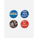 4 Pack Friends Button Set