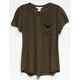 BOZZOLO Slub Knit Girls Pocket Tee