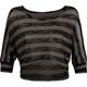 FULL TILT Sheer Stripe Womens Crop Top