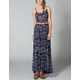 QUIKSILVER Blue Skies Floral Maxi Dress