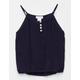 FULL TILT Button Front Crochet Girls Tank