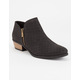 QUPID Perforated Tear Drop Womens Booties