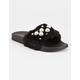 YOKI Pearl Faux Fur Womens Slide Sandals