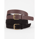 2 Pack Faux Leather/Suede Belts