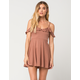 FULL TILT Rib Knit Cold Shoulder Dress