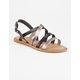 BAMBOO 2 Tone Strappy Womens Sandals
