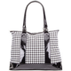Houndstooth Print Tote Bag