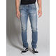 RSQ Seattle Mens Skinny Tapered Stretch Ripped Jeans
