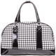 Houndstooth Print Duffle Bag