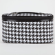 Houndstooth Print Cosmetics Case