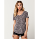 OTHERS FOLLOW Snow Leopard Womens V-Neck Tee