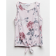 IVY & MAIN Floral Girls Knot Front Tank