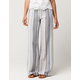 INDIGO REIGN Stripe Womens Linen Pants